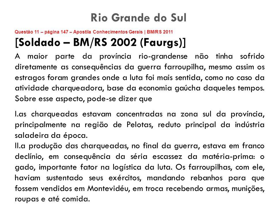 Rio Grande do Sul [Soldado – BM/RS 2002 (Faurgs)]